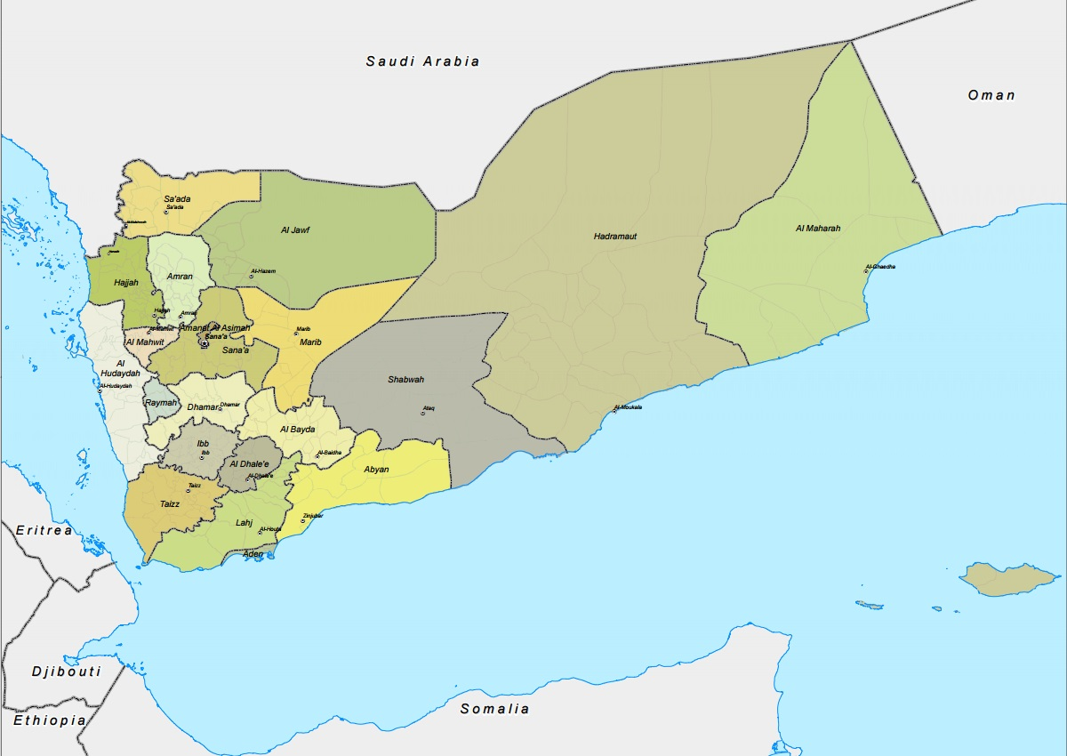 Yemen acaps appears in yemen administrative map gumiabroncs Image collections